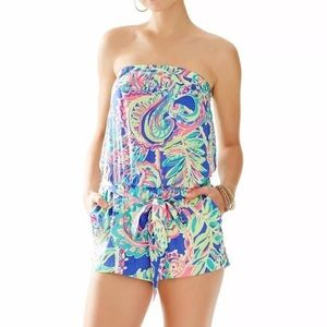 Lilly Pulitzer strapless belted romper